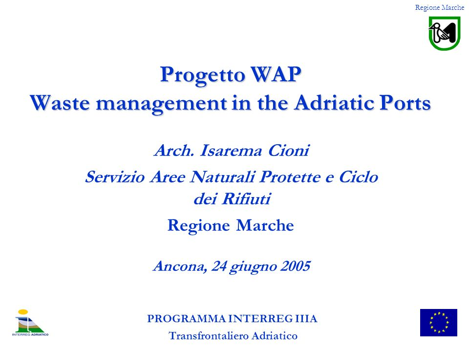Progetto WAP Waste management in the Adriatic Ports