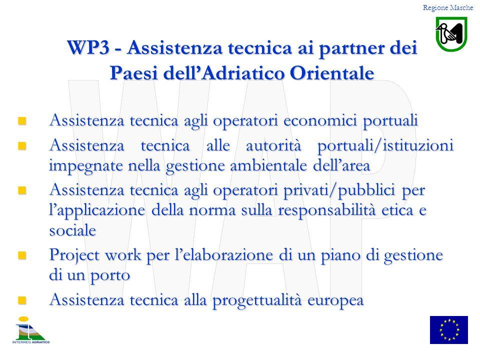 WP3 - Assistenza tecnica ai partner dei Paesi dell'Adriatico Orientale