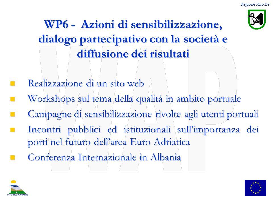 Regione Marche WP6 - Azioni di sensibilizzazione, dialogo partecipativo con la società e diffusione dei risultati.