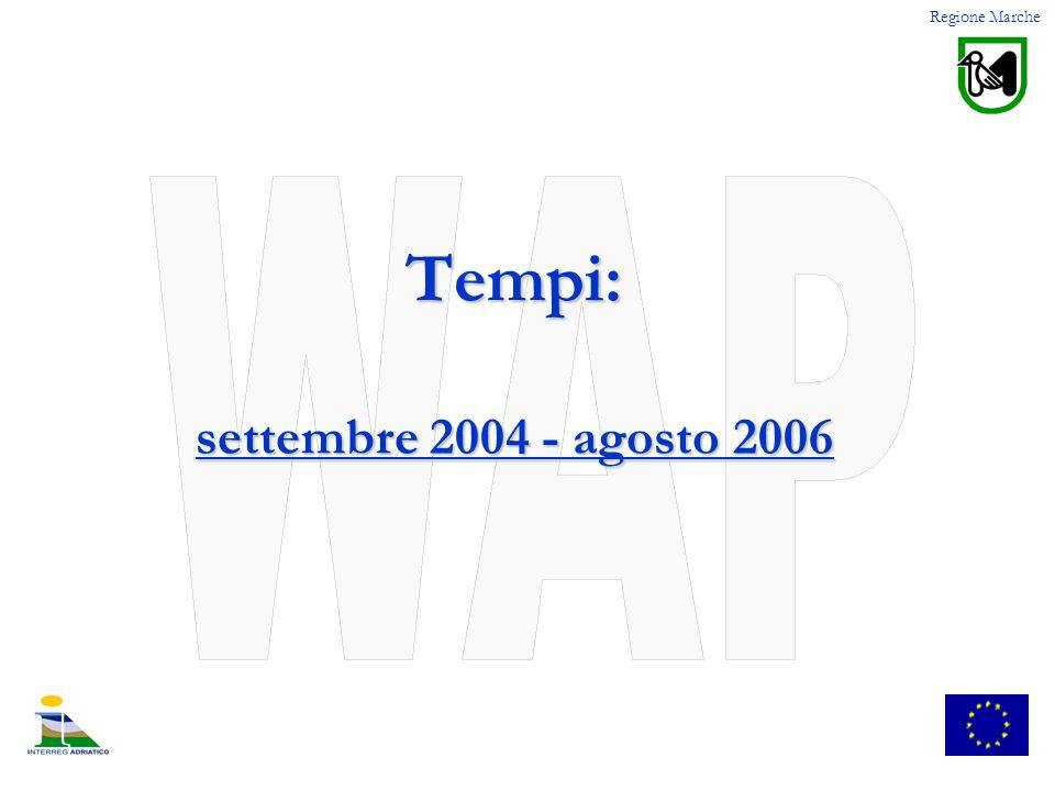 Tempi: settembre 2004 - agosto 2006