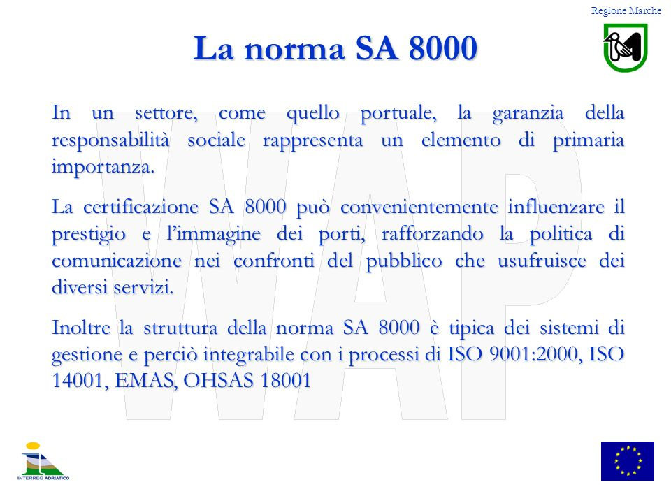 Regione Marche La norma SA 8000.