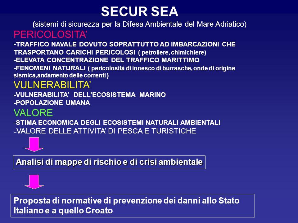 (sistemi di sicurezza per la Difesa Ambientale del Mare Adriatico).