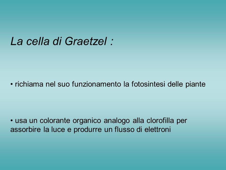 La cella di Graetzel : richiama nel suo funzionamento la fotosintesi delle piante.