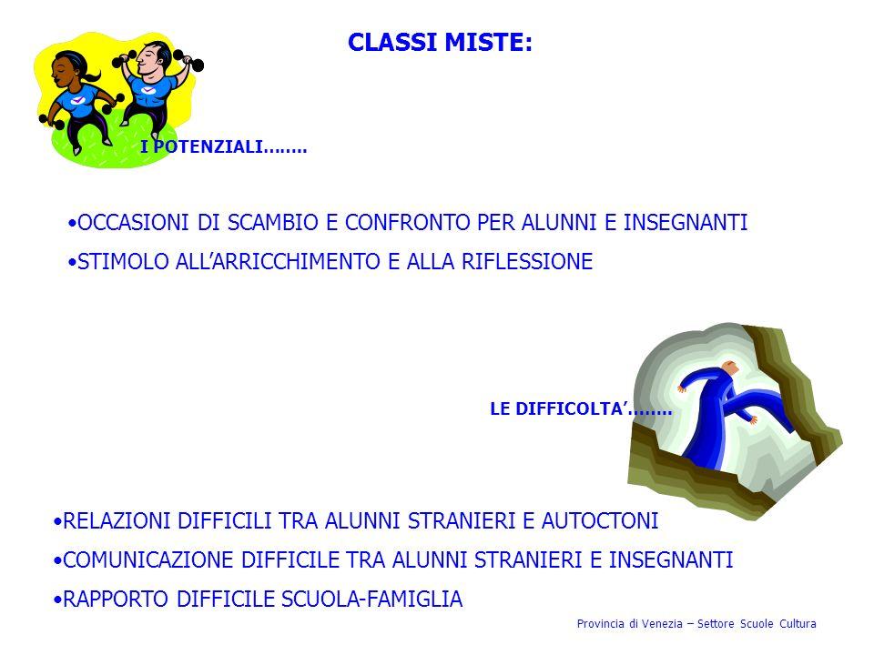 CLASSI MISTE: OCCASIONI DI SCAMBIO E CONFRONTO PER ALUNNI E INSEGNANTI