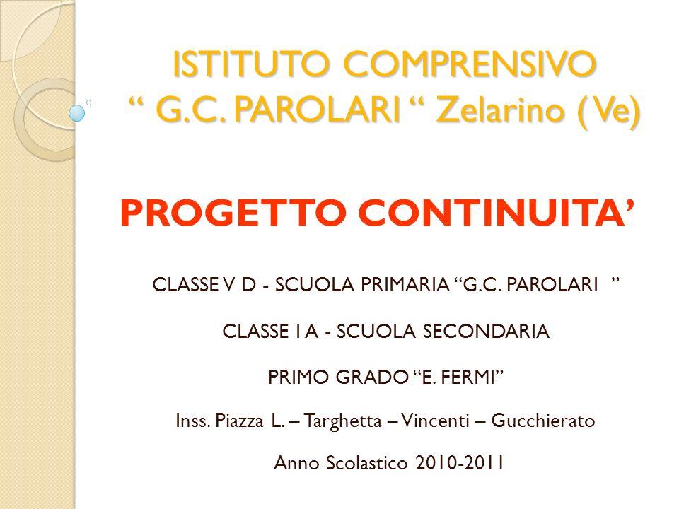 ISTITUTO COMPRENSIVO G.C. PAROLARI Zelarino ( Ve)