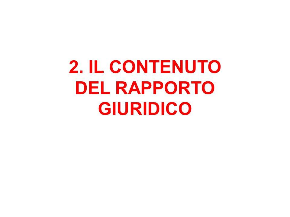 2. IL CONTENUTO DEL RAPPORTO GIURIDICO