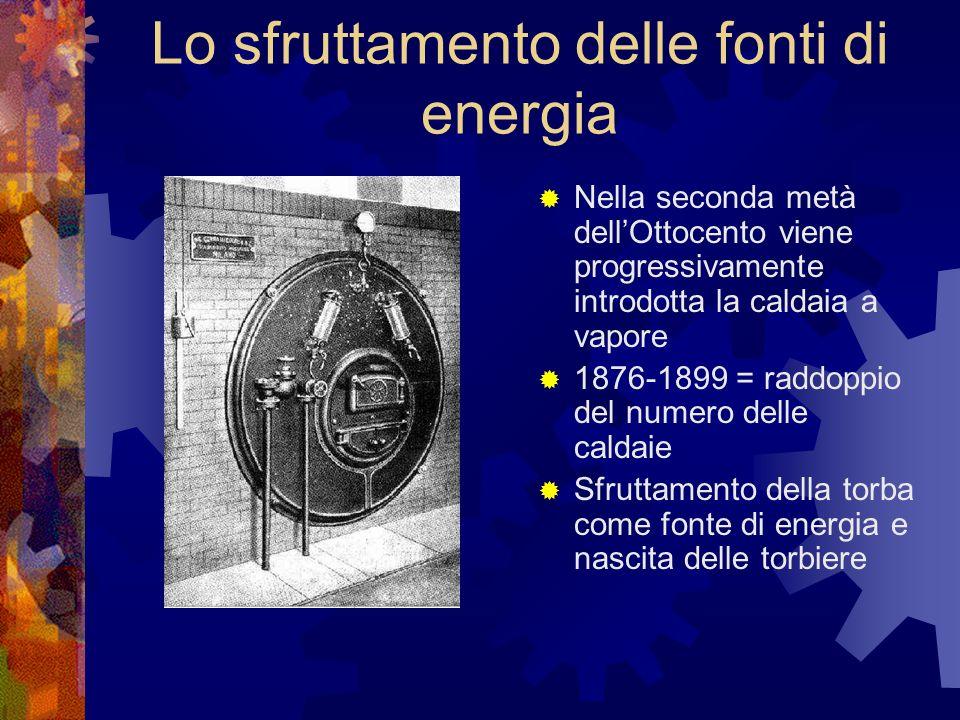 Lo sfruttamento delle fonti di energia