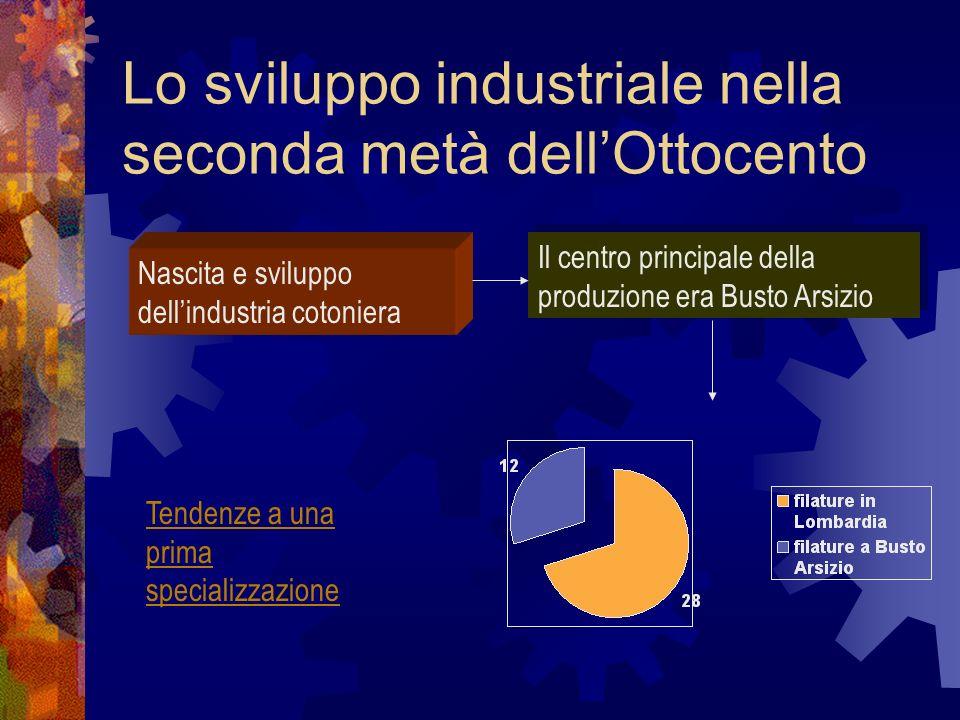 Lo sviluppo industriale nella seconda metà dell'Ottocento
