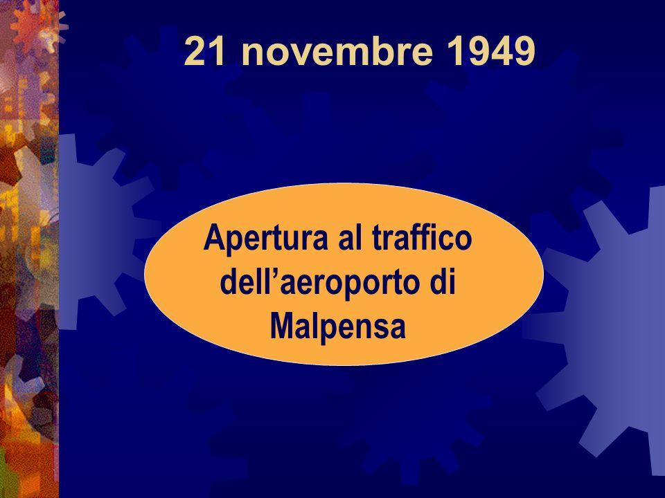 Apertura al traffico dell'aeroporto di Malpensa