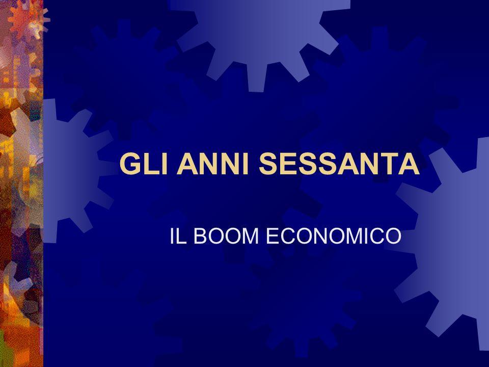 GLI ANNI SESSANTA IL BOOM ECONOMICO