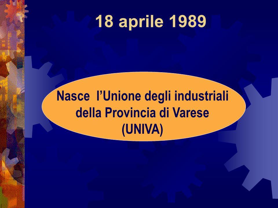 Nasce l'Unione degli industriali della Provincia di Varese (UNIVA)