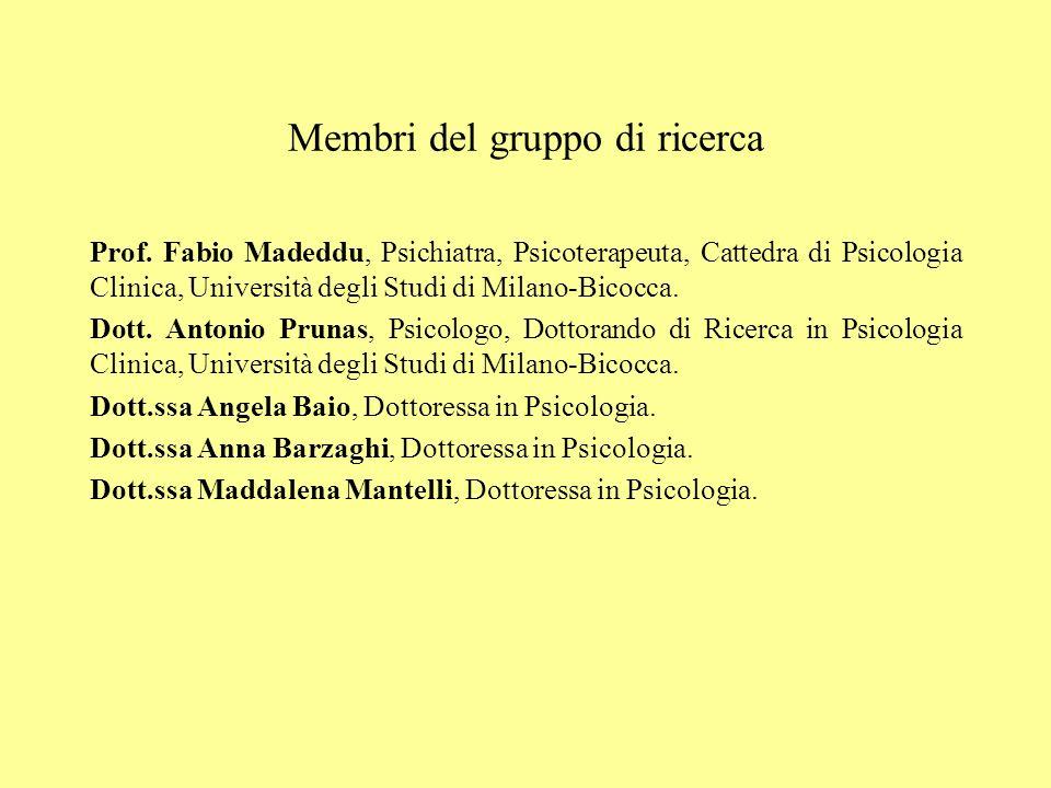 Membri del gruppo di ricerca