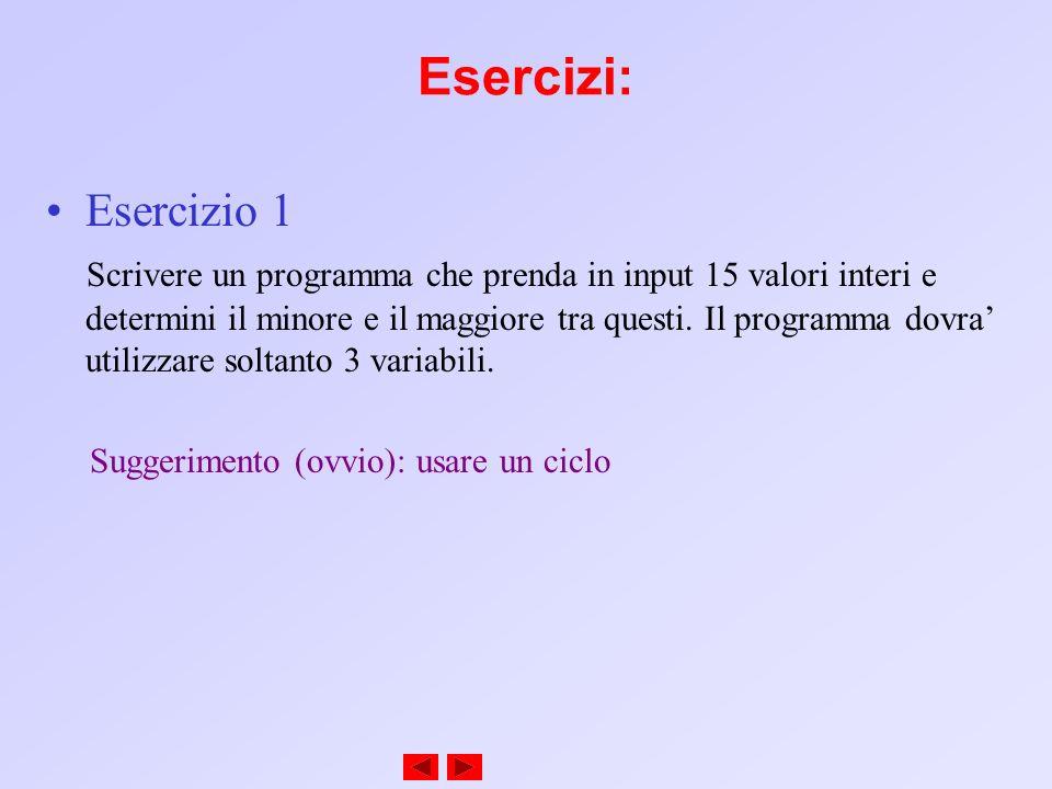 Esercizi: Esercizio 1.