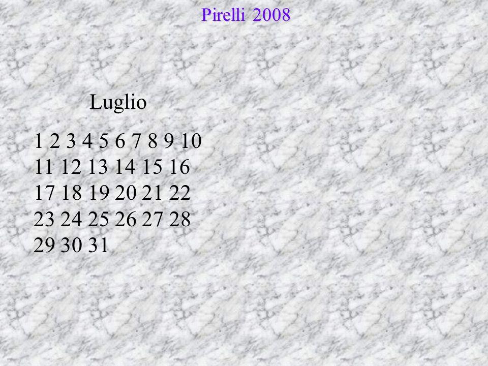Pirelli 2008 Luglio.