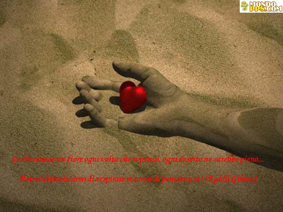 Se sbocciasse un fiore ogni volta che ti penso, ogni deserto ne sarebbe pieno...