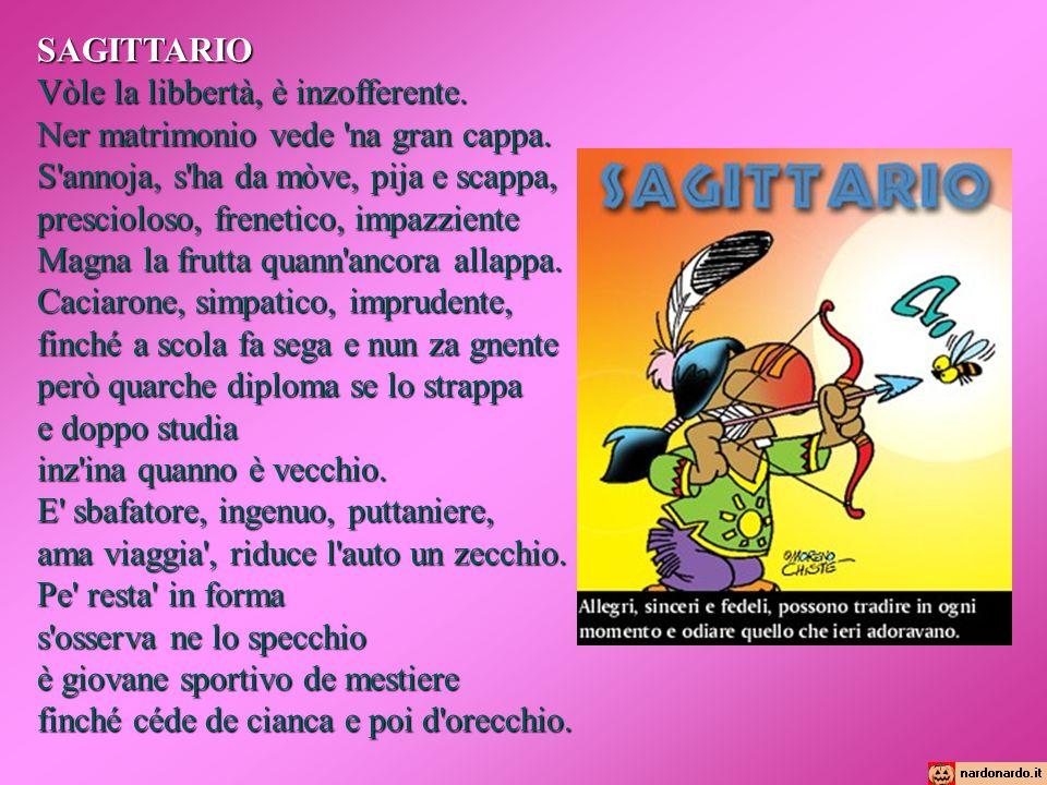 Oroscopo romanesco bilancia ariete scorpione toro sagittario gemelli ppt scaricare - Toro e sagittario a letto ...