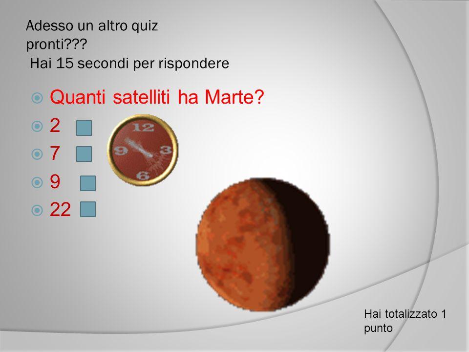 Adesso un altro quiz pronti Hai 15 secondi per rispondere