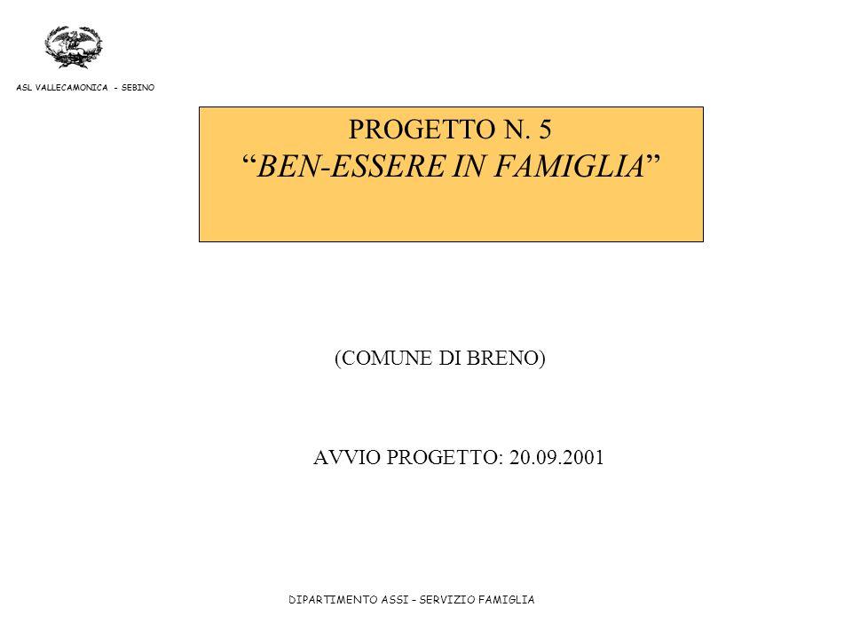 PROGETTO N. 5 BEN-ESSERE IN FAMIGLIA