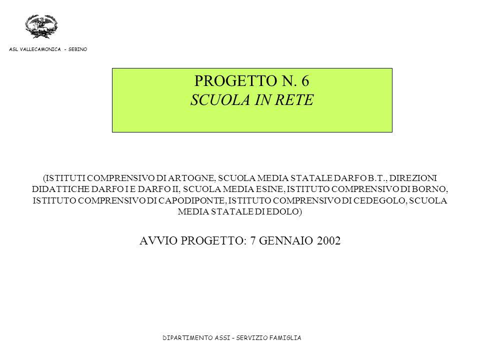 PROGETTO N. 6 SCUOLA IN RETE