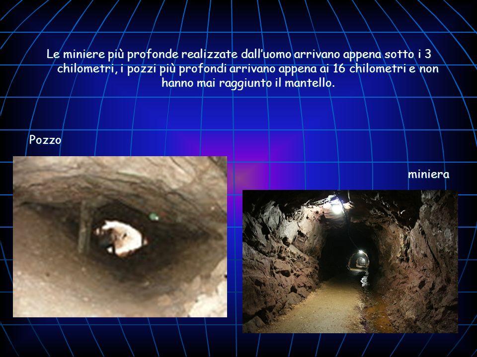 Le miniere più profonde realizzate dall'uomo arrivano appena sotto i 3 chilometri, i pozzi più profondi arrivano appena ai 16 chilometri e non hanno mai raggiunto il mantello.