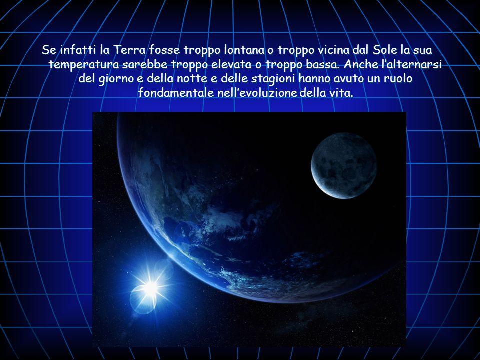 Se infatti la Terra fosse troppo lontana o troppo vicina dal Sole la sua temperatura sarebbe troppo elevata o troppo bassa.