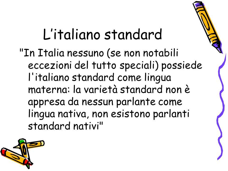 L'italiano standard
