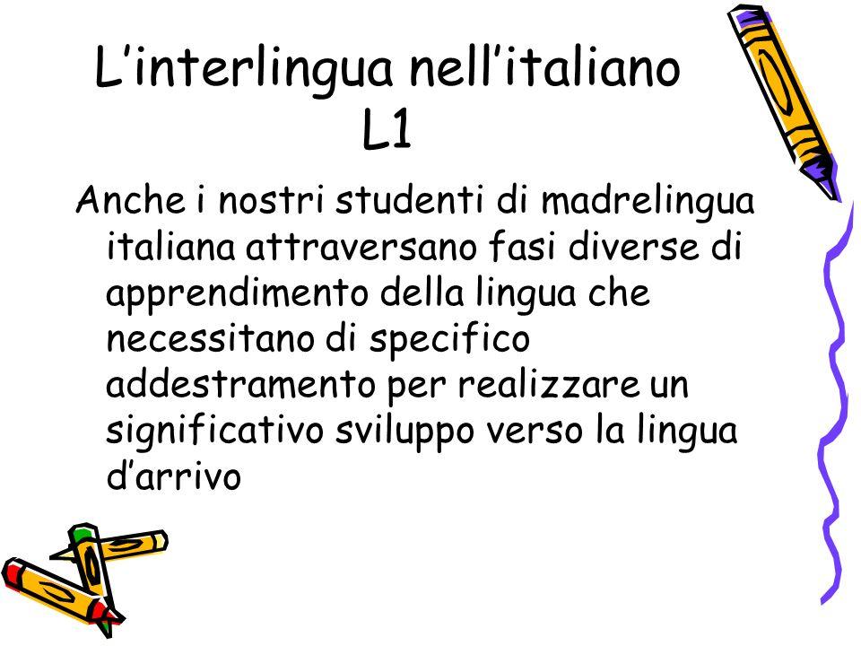 L'interlingua nell'italiano L1