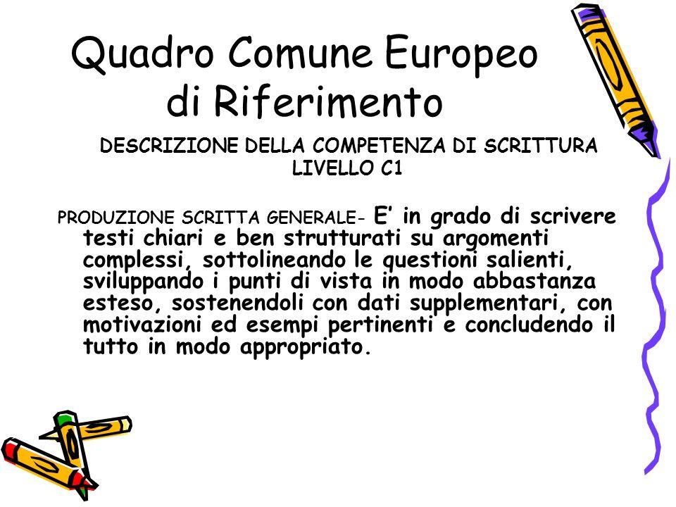 Quadro Comune Europeo di Riferimento