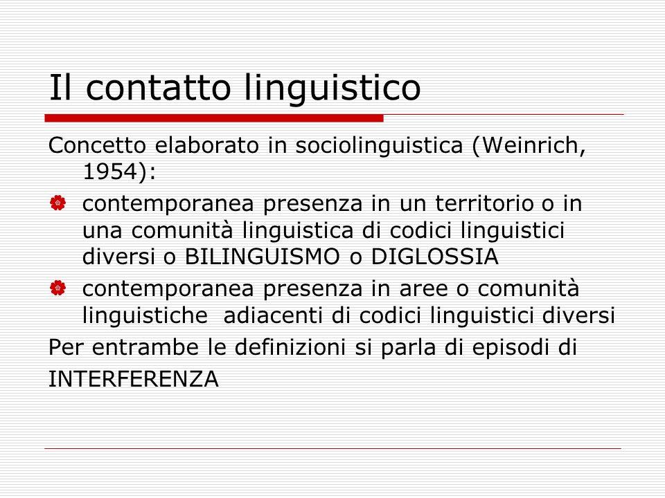 Il contatto linguistico