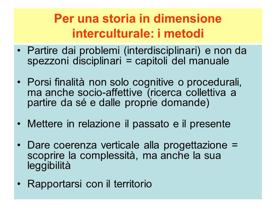 Per una storia in dimensione interculturale: i metodi