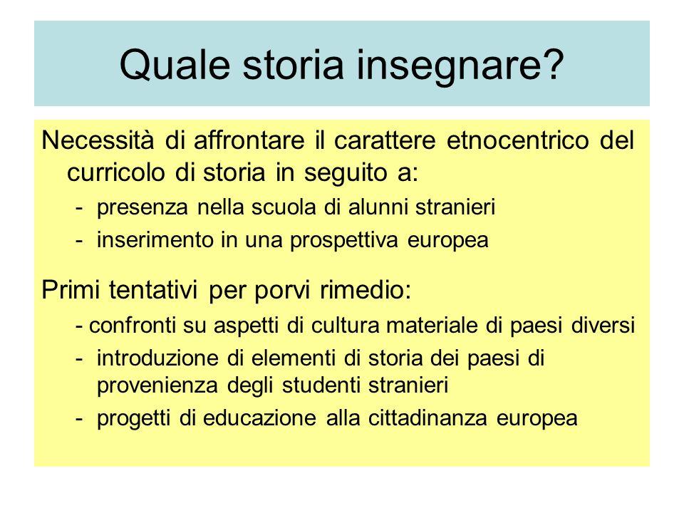 Quale storia insegnare