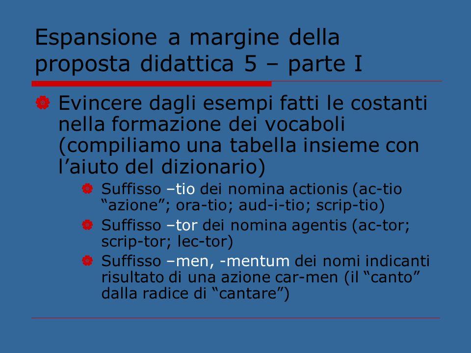 Espansione a margine della proposta didattica 5 – parte I