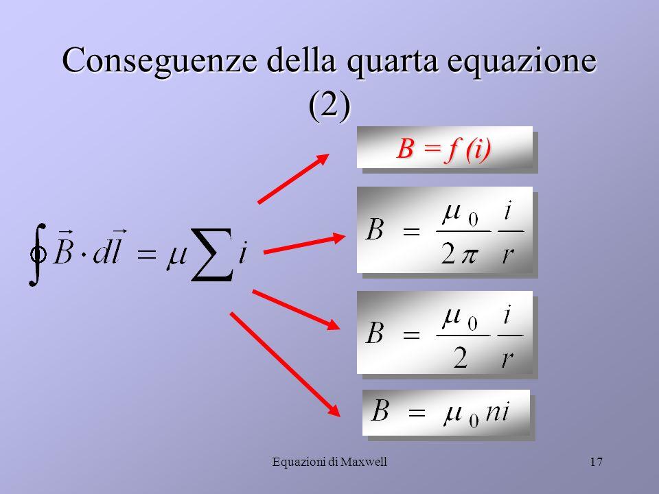 Conseguenze della quarta equazione (2)