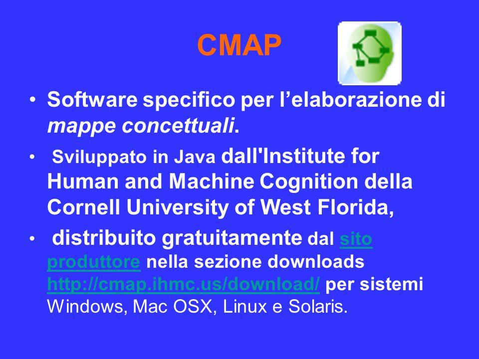 CMAP Software specifico per l'elaborazione di mappe concettuali.