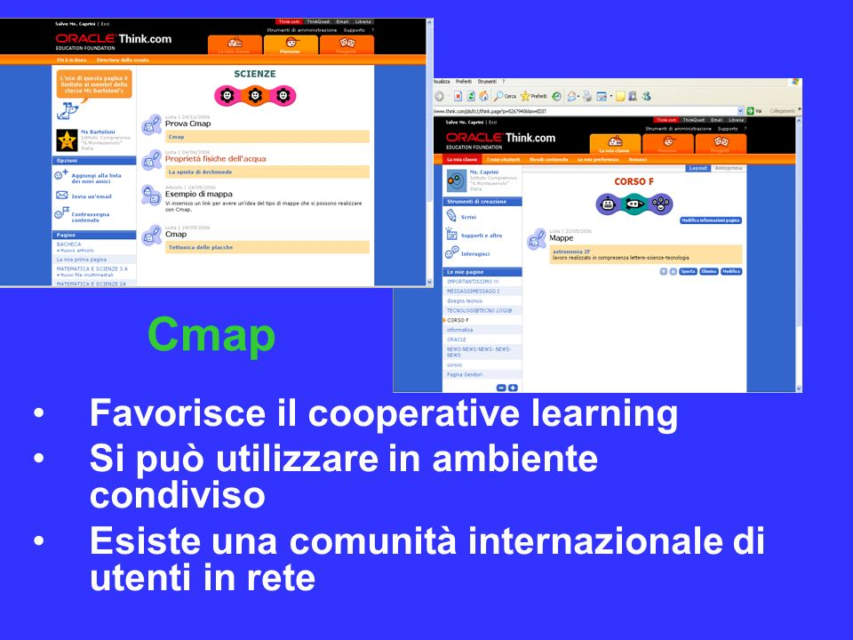Cmap Favorisce il cooperative learning