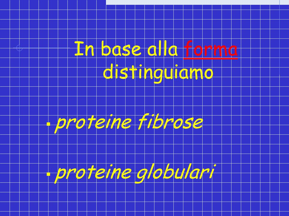 In base alla forma distinguiamo
