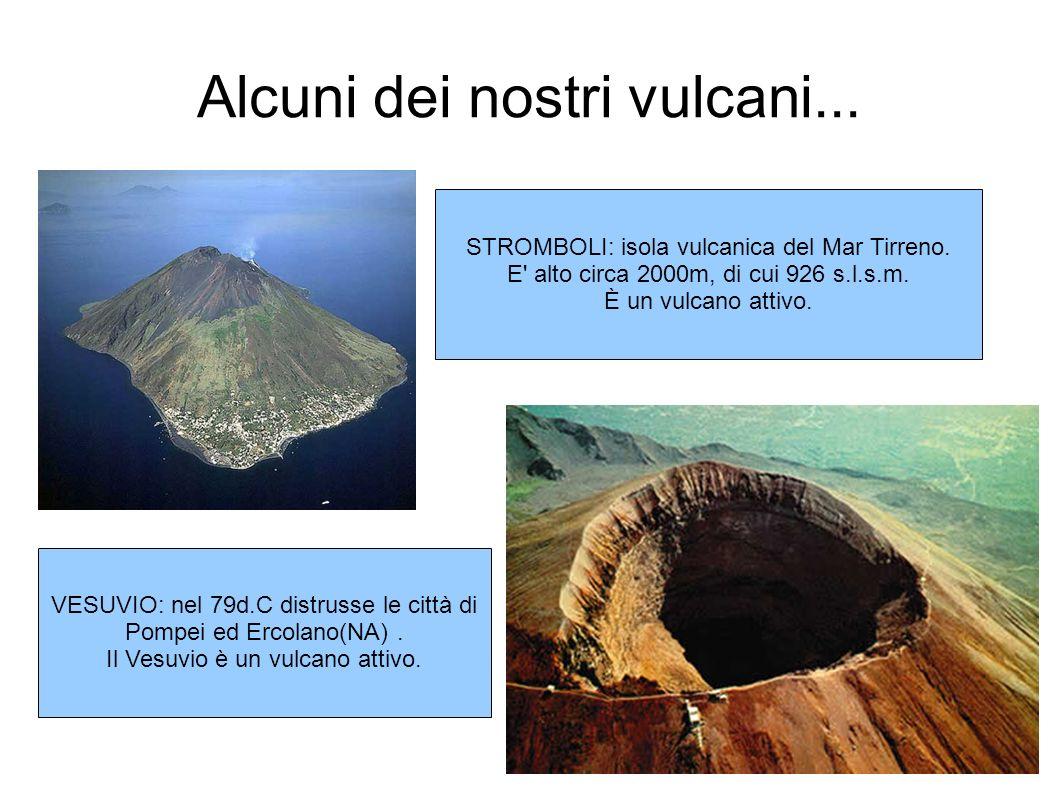 Alcuni dei nostri vulcani...
