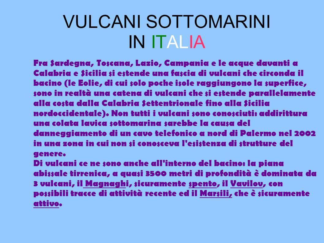 VULCANI SOTTOMARINI IN ITALIA