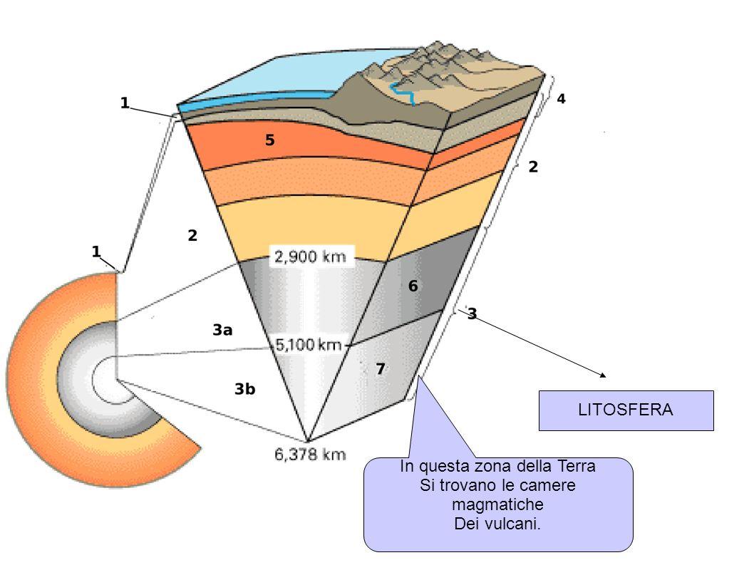 In questa zona della Terra Si trovano le camere magmatiche