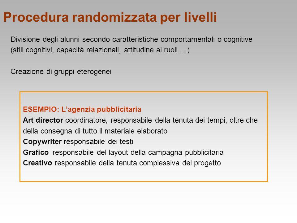 Procedura randomizzata per livelli