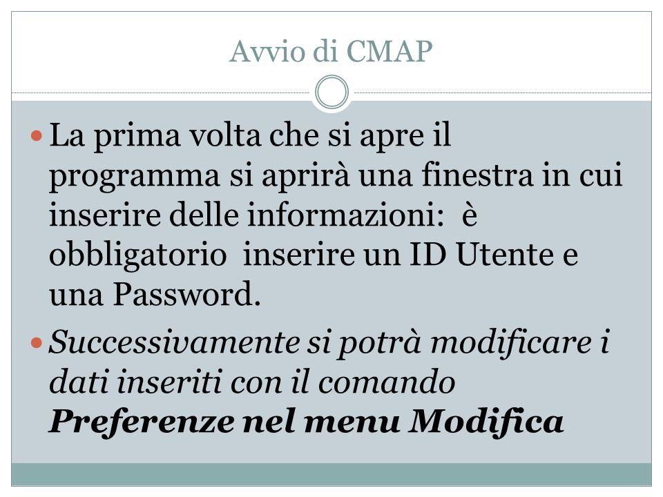Avvio di CMAP