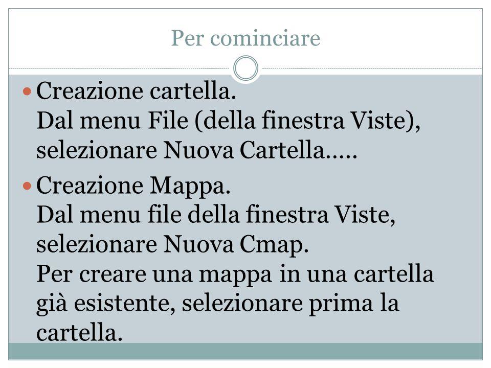 Per cominciare Creazione cartella. Dal menu File (della finestra Viste), selezionare Nuova Cartella…..