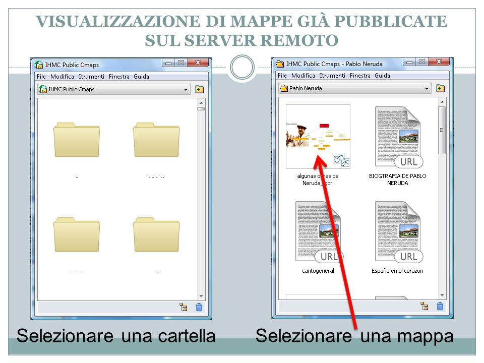 VISUALIZZAZIONE DI MAPPE GIÀ PUBBLICATE SUL SERVER REMOTO