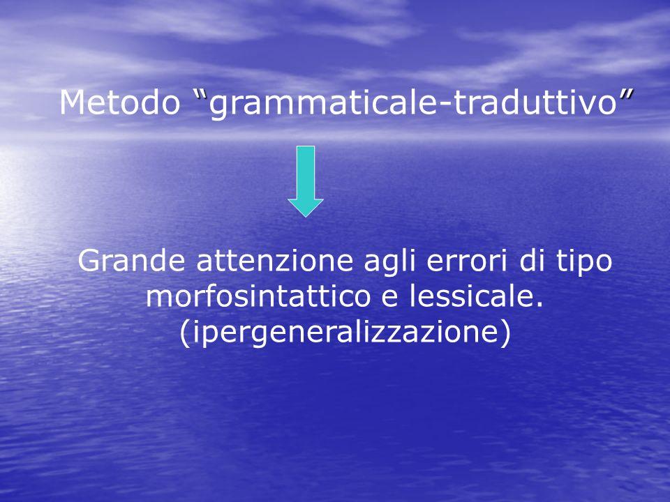 Metodo grammaticale-traduttivo