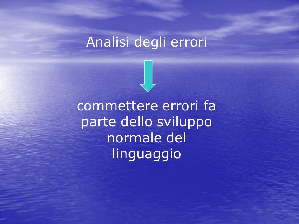 commettere errori fa parte dello sviluppo normale del linguaggio