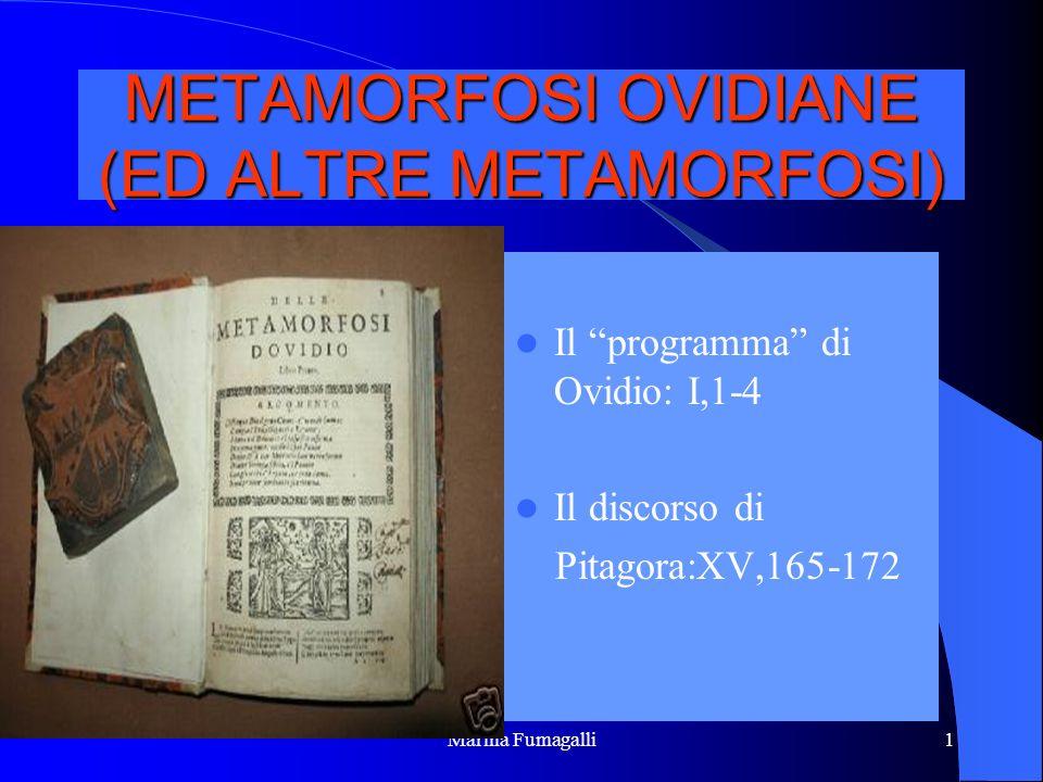 METAMORFOSI OVIDIANE (ED ALTRE METAMORFOSI)