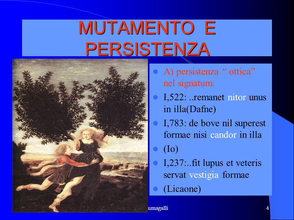 MUTAMENTO E PERSISTENZA