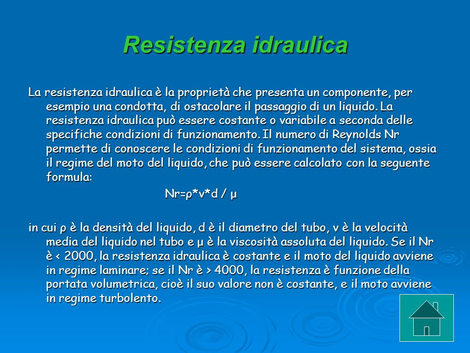 Resistenza idraulica