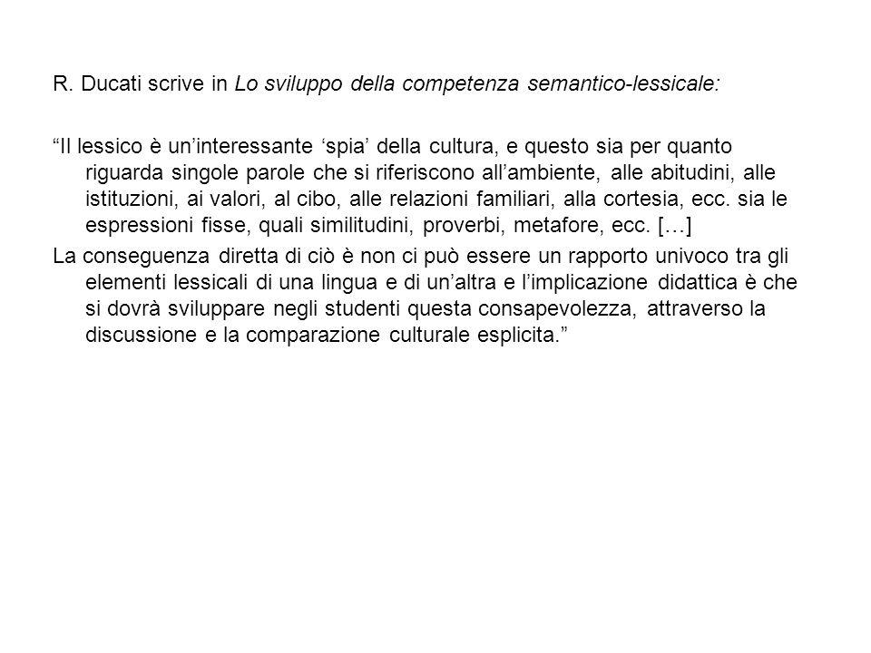 R. Ducati scrive in Lo sviluppo della competenza semantico-lessicale: