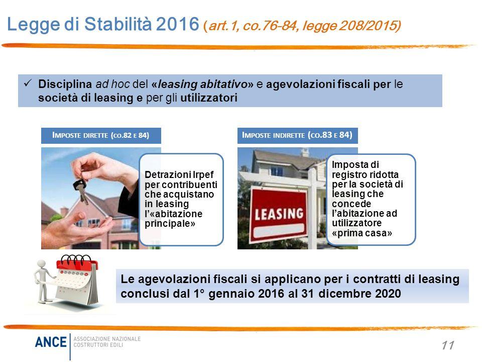 Legge di stabilit 2016 legge 208 2015 novit per casa - Detrazioni fiscali per costruzione prima casa ...